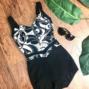 ROBBY LEN VINTAGE 60s one piece Black Swimsuite 12